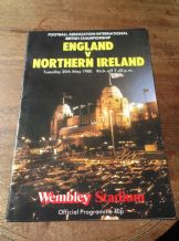 VINTAGE FOOTBALL PROGRAMME ENGLAND V NORTHERN IRELAND 1980 WEMBLEY